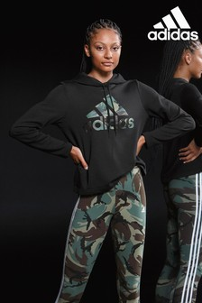 adidas Essentials Kapuzensweatshirt mit Einsatz in Camouflagemuster