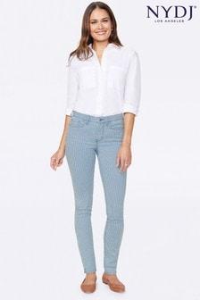 NYDJ Stripe Alina Skinny Ankle Jeans