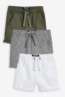 Lot de 3 shorts en lin mélangé (3 mois - 7 ans)