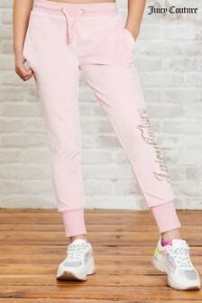 טרנינג דמוי-קטיפה עם אבני-חן דגם Luxe של Juicy Couture
