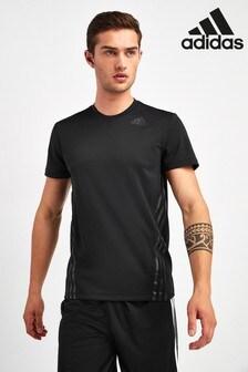 adidas Black Aero Adapt 3 Stack T-Shirt