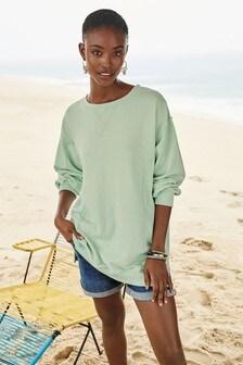 Washed Longline Sweatshirt