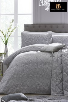 Laurence Llewelyn-Bowen Iris Jacquard Floral Duvet Cover and Pillowcase Set