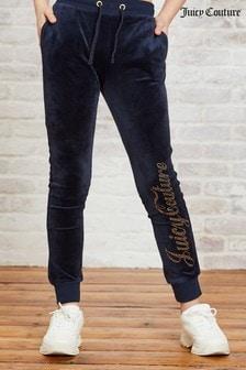 Велюровые спортивные брюки со стразами Juicy Couture Luxe