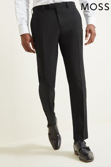 Moss 1851 Tailored Fit Black Dress Trousers