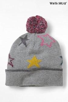 Szara czapka w gwiazdy White Stuff