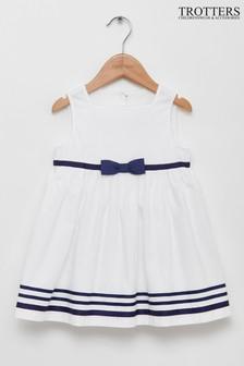 Trotters London白色Natasha連衣裙