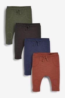 4 Pack Cotton Leggings (0mths-2yrs)
