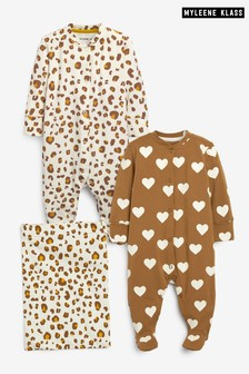 Myleene Klass Baby 2 Pack Sleepsuits