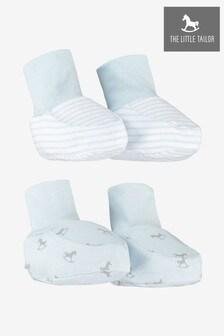 The Little Tailor藍色搖擺木馬「平織布」小襪靴