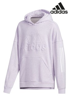 adidas Lilac Oversized Pullover Hoody