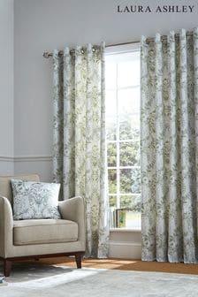 Laura Ashley Sage Parterre Eyelet Curtains