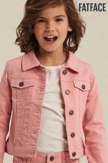 Розовая джинсовая куртка FatFace