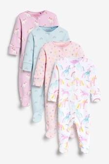 4 Pack Sleepsuit (0-2yrs)