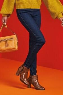 Зауженные джинсы с высокой талией