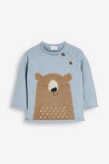 Knitted Bear Jumper (0mths-3yrs)