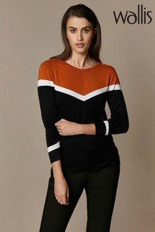 Wallis Copper Rust Chevron Jumper