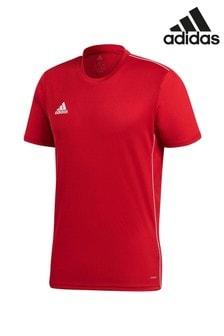 Классическая красная трикотажная футболка adidas 18