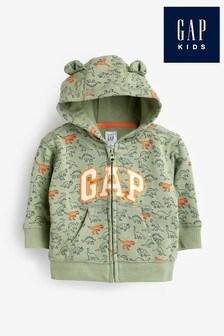 Gap Bedrucktes Kapuzensweatshirt, Grün