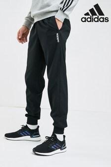 adidas必備單品黑色Linear慢跑運動褲