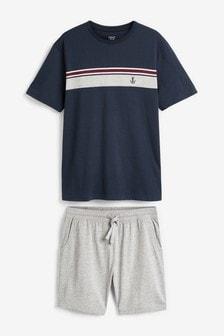 Chest Stripe Short Pyjama Set
