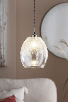 Clear Isla Ombre Easy Fit Lamp Shade