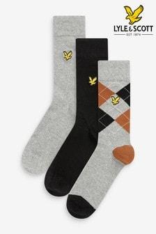 Lyle & Scott Argyle Socks Three Pack