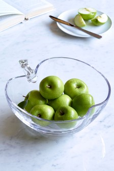 Glass Apple Fruit Bowl