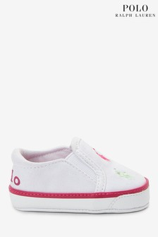 Ralph Lauren White Harbour Baby Shoes