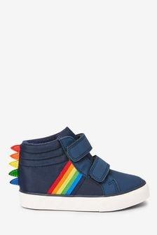 Stiefel mit Dinosaurier-Stacheln und Regenbogendesign (Jünger)