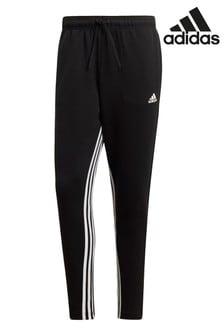 Черные спортивные штаны с 3 полосками adidas ID