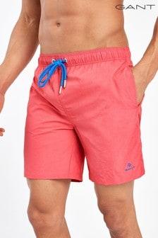 GANT Mens Basic Long Cut Swim Shorts