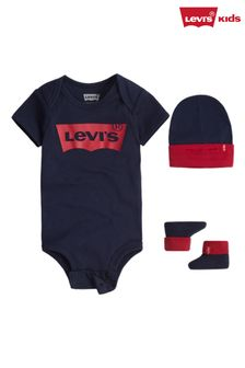 Levi's® Navy 3 Piece Baby Gift Set