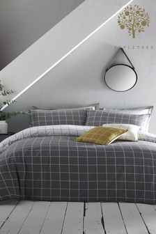 Appletree Harvard Cotton Check Piped Duvet Cover and Pillowcase Set