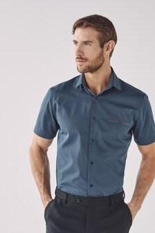 Short Sleeve Shirt With Trim Detail