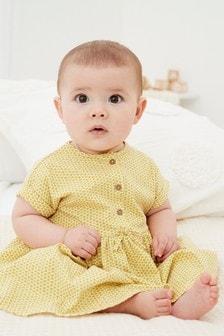 短袖平織布洋裝 (0個月至2歲)