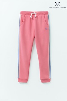 Crew Clothing Company Pink Side Stripe Joggers