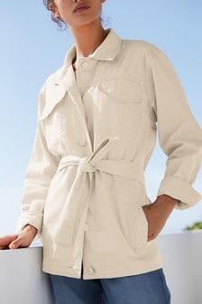 Куртка в стиле вестерн с поясом