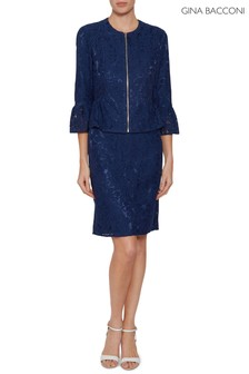 Gina Bacconi Blue Mariana Lace Dress And Jacket