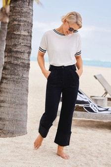 Emma Willis Turn-Up Straight Jeans