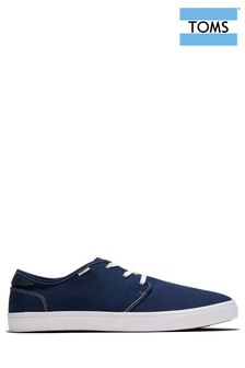 TOMS Navy Canvas Contrast Stitch Carlo Trainers