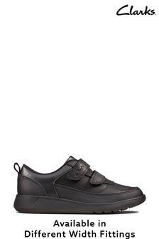Черные кожаные кроссовки Clarks Scape Flare K
