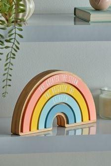 Multi Rainbow Slogan Ornament