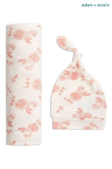 aden + anais Rosettes Hat And Blanket Swaddle Gift Set