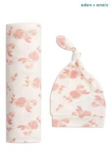 Подарочный набор из шапочки и одеяла с цветочным принтом aden + anais
