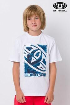 Animal Tabo T-Shirt mit Grafi, Weiss