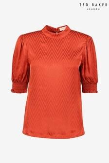 חולצה עם שרוולים נפוחים בגזרת בלוזון של Ted Baker דגם Tiarie