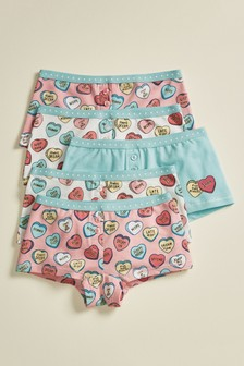 5 Pack Heart Boxers (2-16yrs)