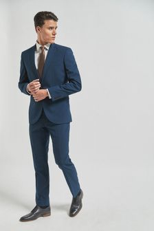 Wool Mix Textured Suit