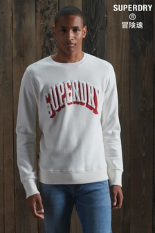 Superdry Limited Edition シェニール Shadow クルーネック スウェットシャツ
